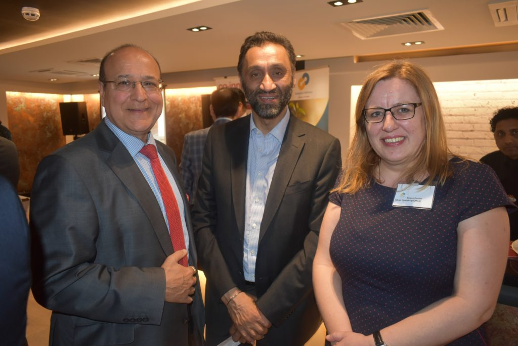 Ash Verma, Onkar Sahota and EWL COO, Alison Davies