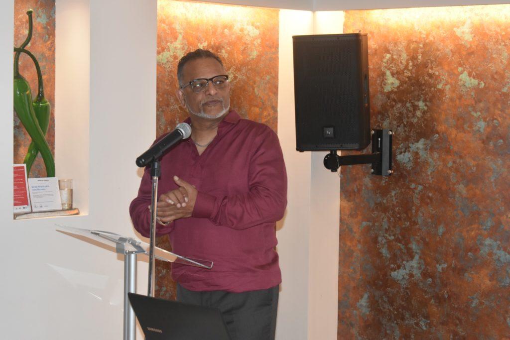 Deven Pillay, CEO of Harrow Mencap speaking on Workplace Wellness